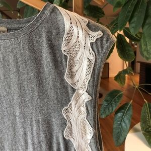 Free People Tops - Free People Bonsai Lace Trim Muscle